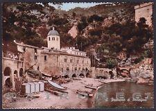 GENOVA PORTOFINO 32 SAN FRUTTUOSO Cartolina FOTOGRAFICA viaggiata 1951