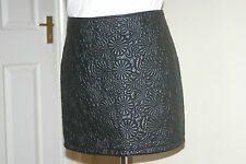 DOROTHY PERKINS BNWT Black PU Faux Leather SKIRT uk12 eu38 us8 Waist w32in w81cm