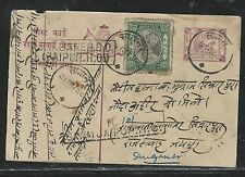 INDIA NATIVE STATE JAIPUR (P2706B) HORSE 1/4 A PSC UPRATED RAJAH 3A