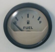 New Faria Euro Biege Boat Fuel Level Gauge Marine 240-33 OHM Gas Black gage