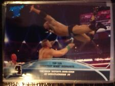 2013 Topps Best of WWE Top Ten Greatest Moments #4 The Rock Defeats John Cena