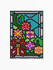Spring Floral Glass Beaded Banner Pattern