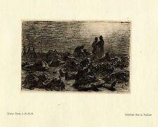 Walter Miehe 2.g. - r. - r. nocturnas Rast rusia guerra pintor * era artist * 1.wk