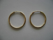 Gold Filled 16mm Endless Hoop Earrings New
