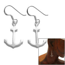 925 Sterling Silver Nautical Anchor Earrings