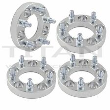 "(4) 32mm 5x4.5 Wheel Spacers 1.25"" Inch 5x114.3 Adapters 12x1.5 Studs Billet"