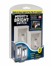 New Mighty Bright Switch Wireless Peel Stick LED Tap Light Touch Night seen TV