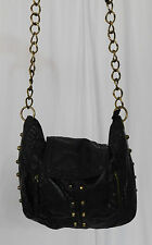 Converse Black Studded Faux Leather Shoulder Bag, Handbag, Purse