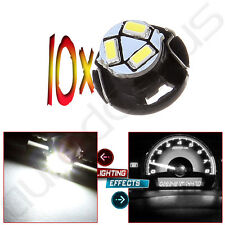 10x T5/T4.7 White Neo Wedge 3SMD LED Center Console Light A/C Climate Panel Lamp