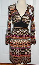 MISSONI Dress Wool Blend Size 4 US 40 Italy NEW NWT