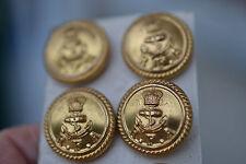 5 Vintage Royal Fleet gilt Auxiliary buttons navy anchor Firmin London,last set