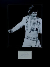 ELVIS PRESLEY signed autograph PHOTO DISPLAY Las Vegas