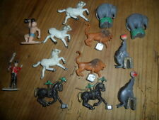 "13 Vintage ""Made in Hong Kong"" Circus Figures   **FREE SHIP USA **"