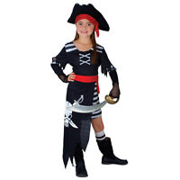 Girls Pirate Princess Costume for Sea Buccaneer Fancy Dress Kids Childs