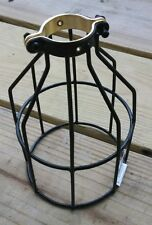 Black Bulb Guard Clamp On Lamp Cage Vintage Trouble Light Industrial Steampunk