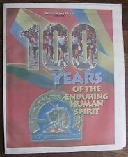 Boston Marathon 100 Years April 14, 1996 Newspaper Section (Boston Herald)