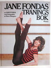 Swedish Language - JANES FONDAS TRANINGS BOK - by Jane Fonda (Workout Book) 1983