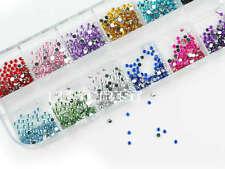 1200pcs 3D Nail Art Strass Glitter pour Ongles Conseils Décoration Manucure