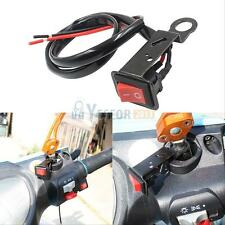 Motorcycle ATV Bike Handlebar Light ON OFF Kill Switch Button And Wiring Lead