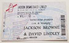 JACKSON BROWNE / DAVID LINDLEY : billet ticket concert HOLLAND 31/03/1997