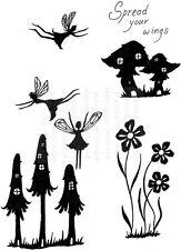 Fée de champignons silhouettes champignons déployez vos ailes de fées craft stamps