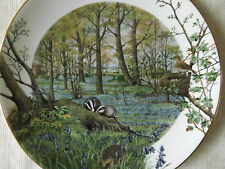 ROYAL WORCESTER CABINET PLATE 'THE WOODLANDS IN APRIL' - LTD EDITION