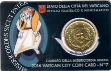 NEW !!! Euro VATICANO 2016 COIN CARD 50 CENT in Folder Ufficiale NEW !!!