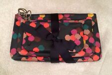 Fossil Key Per Multi Navy Dot Triple Pouch 3 Cosmetic Bag Organizer Makeup