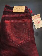 TRUE RELIGION BRAND JEANS MENS RED SKINNYJEANS SZ 31