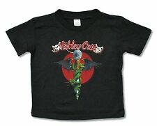 "MOTLEY CRUE ""DR. FEELGOOD"" BLK T-SHIRT NEW MOTLEY OFFICIAL BABY BOYS TODDLER 4T"