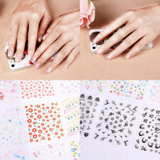 50 Sheets Nail Art Stickers Transfer 3D Design Manicure Tips Decal Decoration