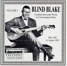 BLIND BLAKE - Complete Recorded Works, Vol. 3 (1928-1929)   NEW CD  Document