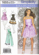 Strapless Flared Skirt Party Prom Dress Gown Sewing Pattern Size 4 6 8 10 12