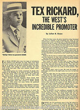 Tex Rickard, The West's Incredible Boxing Promoter