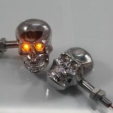LED Skull Turn Signal light For Marauder 1600 Boulevard S40 M50 C90 Goldwing VTX