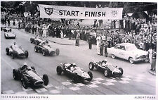 1958 Melbourne Grand Prix LARGE PRINT Albert Park  Memorabilia Car Racing