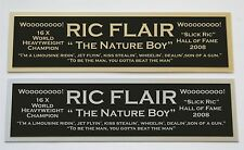 "Ric Flair ""Nature Boy"" nameplate for signed photo belt trunks robe WWE"