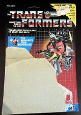 Transformer G1 Aerialbot Skydive Backer Card - Bio - Tech Info - Robot Points