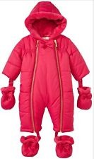 Kate Spade Baby Snowsuit Pink 9 Months Gold Zipper Booties Retail $98 NWT
