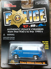 Prince William Co. Police Virginia 1975 Chevy Van RACING CHAMPIONS FREE SHIPPING