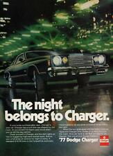 Old Print. 1977 Dodge Charger - The night belongs to Charger - auto ad