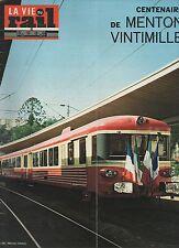 la vie du rail N°1342 du 14 mai 1972 menton vintimille