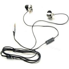 Cool Silver Skull Heads 3.5mm Port Metal Headset Earphones For Phone iPads MKLG