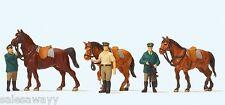 Preiser 10583 Stehende Polizisten, Pferde,  H0