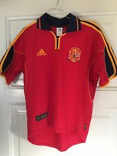 SPAIN NATIONAL 1999-2001 ADIDAS HOME JERSEY SHIRT CAMISETA MEN'S SIZE S