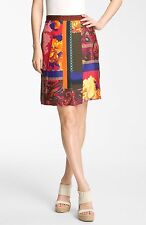 NWT Weekend by Max Mara Mentino Silk Skirt Multicolor $375 – Size 14