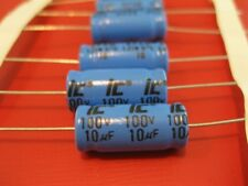 15 PCS 100V 10uF ELECTROLYTIC AXIAL CAPACITOR ILLINOIS CAPACITOR *NEW*