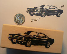"Mustang Car  Rubber Stamp WM 2.25"" P10"