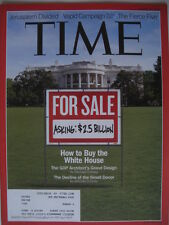 TIME MAGAZINE AUGUST 13 2012 HOW TO BUY THE WHITE HOUSE 2.5 BILLION.