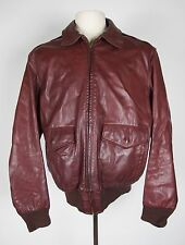 NORTH BEACH LEATHER MEN'S VINTAGE A2 FLIGHT JACKET SZ 38-40 MED MICHAEL HOBAN